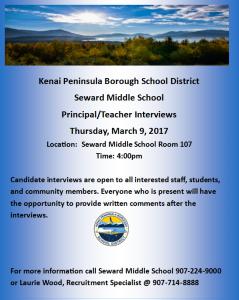 Principal Interview Flyer